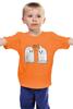 """Детская футболка классическая унисекс """"What (Ghost x Condom)"""" - прикол, призрак, приведение, кондом"""