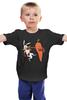 """Детская футболка классическая унисекс """"Нокаут"""" - спорт, бокс, кролик, морковь, нокаут"""