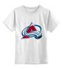 """Детская футболка классическая унисекс """"Colorado Avalanche"""" - nhl, нхл, colorado avalanche"""