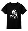 """Детская футболка классическая унисекс """"На прицеле"""" - девушка, силуэт, shoot, поп-арт, gun, выстрел, shot"""