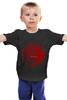 """Детская футболка классическая унисекс """"fire and blood"""" - dragons, игра престолов, game of thrones, targarien, fire and blood"""