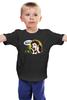 "Детская футболка классическая унисекс ""ZoMbiEe!"" - череп, глаз, zombie, зомби, рука, в, cherep, жуть, хоррор, на"