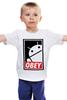 """Детская футболка классическая унисекс """"Android (Obey)"""" - android, робот, obey, андроид, повинуйся"""