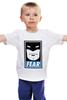 "Детская футболка классическая унисекс ""Бэтмен (Batman)"" - страх, batman, fear, бэтмен, obey"