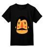 """Детская футболка классическая унисекс """"Борода X"""" - борода, усы, beard, mustache"""
