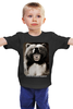 """Детская футболка """"Путин """" - bear, putin, владимир путин, самый выжливый"""