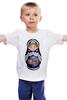 "Детская футболка классическая унисекс ""Матрешка"" - матрешка, russian doll, символ россии"