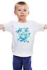 """Детская футболка """"Белый Волк"""" - животные, абстракция, волк, wolf"""