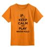 """Детская футболка классическая унисекс """"Без названия"""" - спорт, water polo, водное поло"""