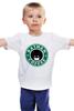 """Детская футболка классическая унисекс """"Batman Coffee"""" - пародия, batman, бэтмен, dc, старбакс"""