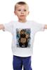 """Детская футболка """"В ожидании новых санкций"""" - арт, bear, медведь, москва, russia, путин, putin, санкции"""