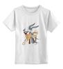 """Детская футболка классическая унисекс """"Зайцы"""" - авторские майки"""
