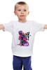 "Детская футболка классическая унисекс ""Неоновый Будда"" - арт, buddha, будда, neon, зен"