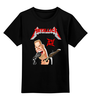 """Детская футболка классическая унисекс """"Metallica"""" - metallica, рок группа, металлика, james hetfield, джеймс хетфилд"""