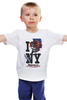"Детская футболка классическая унисекс ""Friday the 13th / I love NY"" - new york, i love ny, пятница 13-е, джейсон, friday the 13th"