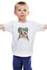 """Детская футболка """"Панда в венке"""" - цветы, панда, природа, panda, акварель"""