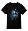 """Детская футболка классическая унисекс """"Доктор Кто"""" - абстракция, doctor who, доктор кто, тардис, телефонная будка"""