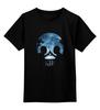"""Детская футболка классическая унисекс """"Влюбленные или череп?"""" - череп, любовь, луна, влюбленные, оптический обман"""