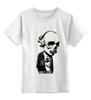 """Детская футболка классическая унисекс """"Don't stop the music"""" - музыка, skull, череп, music, наушники клубная, don't stop"""