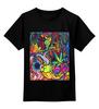 """Детская футболка классическая унисекс """"абстракции"""" - арт, абстракция, color, graffiti, bright, яркий принт"""