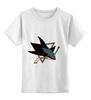 """Детская футболка классическая унисекс """"Сан-Хосе Шаркс """" - хоккей, nhl, нхл, san jose sharks, сан-хосе шаркс"""