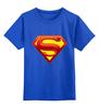 """Детская футболка классическая унисекс """"супермен"""" - супермен"""