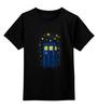 """Детская футболка классическая унисекс """"ТАРДИС (Винсент Ван Гог)"""" - ван гог, доктор кто, тардис, звёздная ночь"""