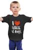 """Детская футболка """"i love rocknroll"""" - рок, i love, rock"""