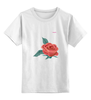 """Детская футболка классическая унисекс """"Цветок"""" - арт, цветок, tajlife"""