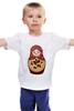 "Детская футболка ""Матрешка"" - матрешка, russian doll, символ россии"