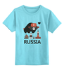 """Детская футболка классическая унисекс """"Россия (Russia)"""" - москва, русский, россия, russia, russian"""