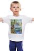 """Детская футболка классическая унисекс """"Весенняя рыбалка."""" - весна, пейзаж, рыбалка"""