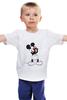 """Детская футболка классическая унисекс """"Mickey Mouse Bloody Eyes On White"""" - боль, смех, юмор, приколы, глаз, мультики, глаза, mouse, микки, анимация"""