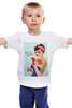 """Детская футболка классическая унисекс """"Pin Up - Snow"""" - пинап, тату, pin-up, татуировки, белоснежка"""