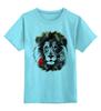 """Детская футболка классическая унисекс """"Лев и роза"""" - лев, lion, царь зверей"""