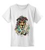 """Детская футболка классическая унисекс """"лев"""""""