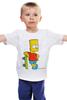 """Детская футболка классическая унисекс """"барт симпсон"""" - симпсоны, the simpsons, bart"""