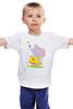"""Детская футболка классическая унисекс """"Дружба"""" - конфета, добро, слоненок, пчелка, сестренке"""