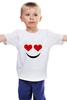 """Детская футболка классическая унисекс """"Футболка Улыбка"""" - смайл, smile, смайлик, улыбка"""