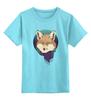 """Детская футболка классическая унисекс """"Лиса в шарфике"""" - fox, лиса, лиса в шарфике"""