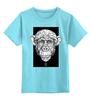"Детская футболка классическая унисекс ""Monkey"" - monkey, арт, графика, дизайн, обезьяна"