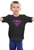"""Детская футболка классическая унисекс """"SuperMan EMO"""" - night, superman, pink, эмо, emotion"""