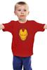 """Детская футболка классическая унисекс """"Железный человек"""" - мстители, iron man, tony stark, железный"""