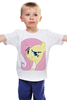 "Детская футболка классическая унисекс ""My Little Pony: Флаттершай"" - pony, mlp, my little pony, пони, friendship is magic, fluttershy, флаттершай"