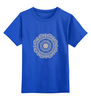 """Детская футболка классическая унисекс """"Символ лотоса"""" - знак, восток, религия, символ, лотос"""