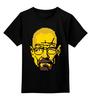 """Детская футболка классическая унисекс """"Уолтер Уайт"""" - во все тяжкие, пиксели, 8 бит, breaking bad, уолтер уайт"""