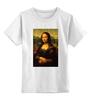 """Детская футболка классическая унисекс """"Мона Лиза (Mona Lisa)"""" - мона лиза, джоконда, mona lisa, полигоны, polygons"""