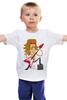"""Детская футболка классическая унисекс """"Рок Звезда (Rock Star)"""" - юмор, гитара, рок звезда, бас"""