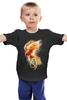 """Детская футболка классическая унисекс """"Феникс"""" - арт, огонь, птица, абстракция, феникс, phoenix"""