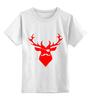 """Детская футболка классическая унисекс """"Ho Ho Ho..."""" - christmas, deer, reindeer"""